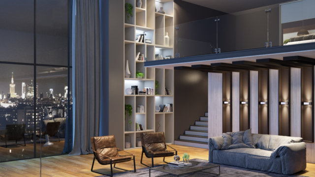 Home theater - moveis planejados_Lacato-Legno-Colore-Camoscio-